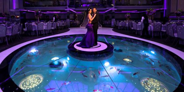 Desain Akuarium lantai dansa
