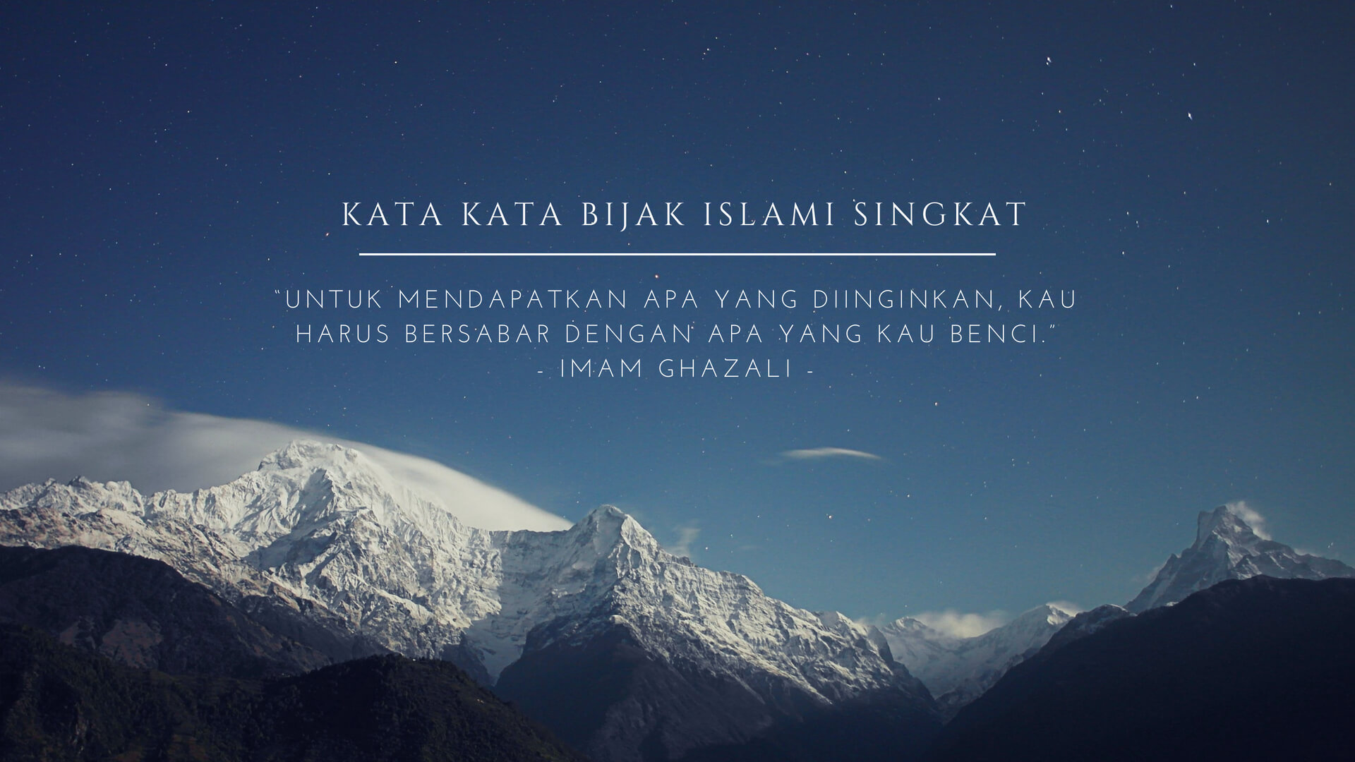 Kata Kata Bijak Islami Untuk Orang