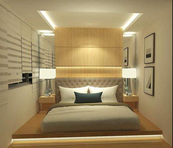 Desain Kamar Tidur minimalis klasik 3x3