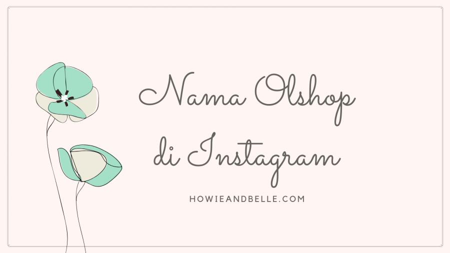 nama olshop di instagram