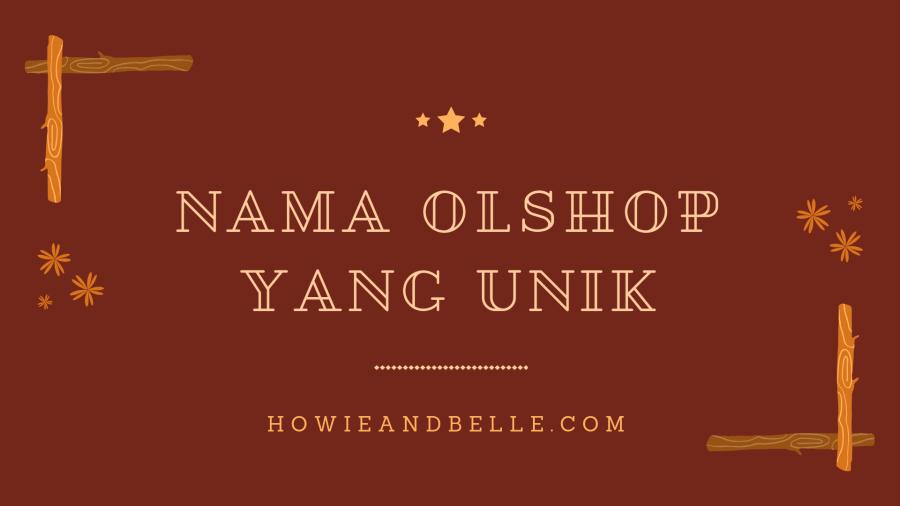 nama olshop yang unik