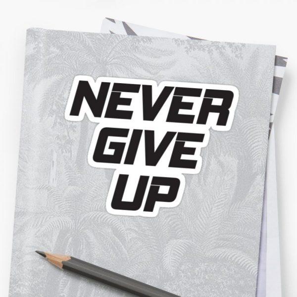 Kata Kata Motivasi Diri - 8 Never Give Up