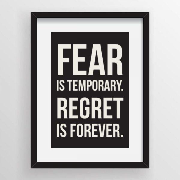 Kata Kata Motivasi Diri - 9 Regret is forever