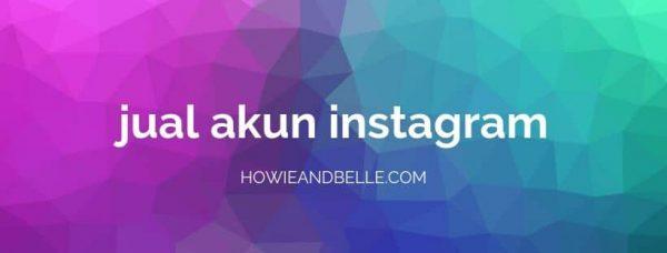 menjual akun instagram