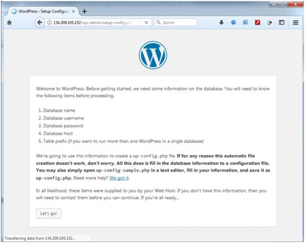 artikel 2 - langkah 10 - 01 - install wordpress