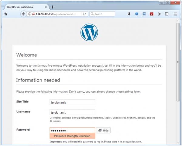 artikel 2 - langkah 10 - 04 - install wordpress