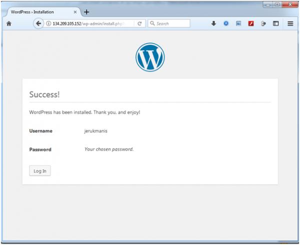 artikel 2 - langkah 10 - 05 - install wordpress