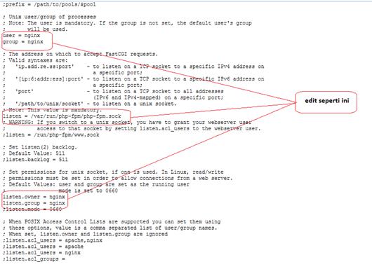 artikel 2 - langkah 6 - setting wp tanpa cpanel - 2 - setting nginx dan php-fpm