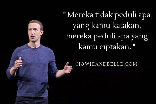 Kata kata motivasi diri dan kata kata bijak kehidupan dari mark zuckerberg