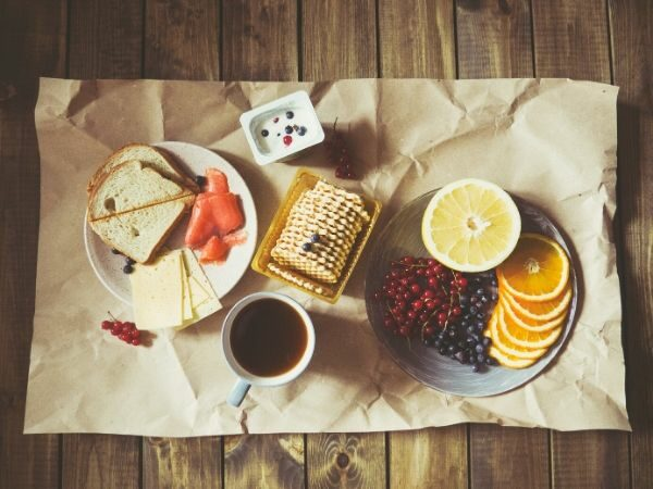 menu sarapan ala barat dengan platter