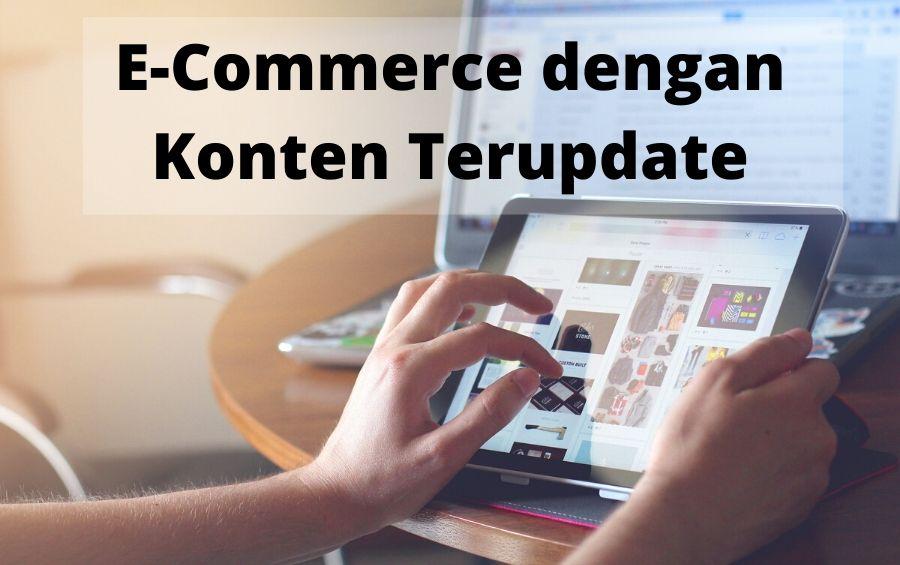 daftar ecommerce dengan konten terupdate