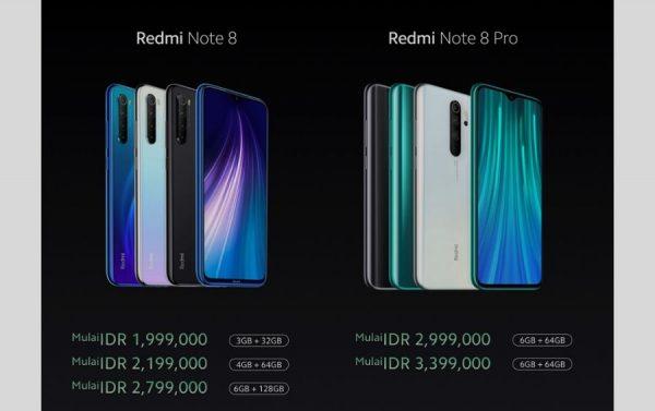 harga redmi note 8 dan redmi note 8 pro