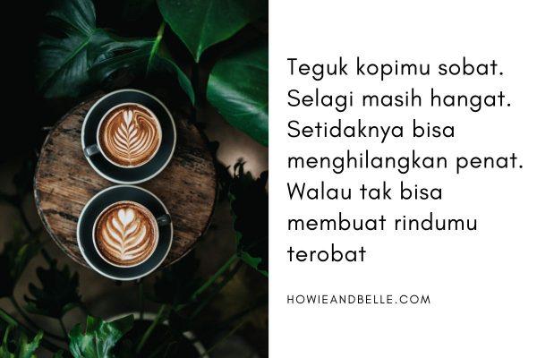 caption tentang secangkir kopi